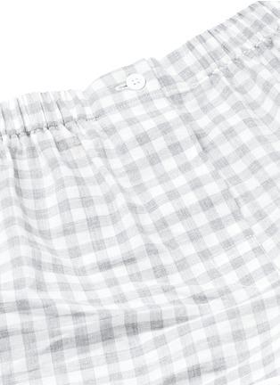 Detail View - Click To Enlarge - Araks - 'Tia' gingham check organic cotton boxer shorts
