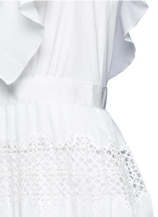 Detail View - Click To Enlarge - SELF-PORTRAIT - 'Victoria' broderie anglaise trim plissé pleat tier dress