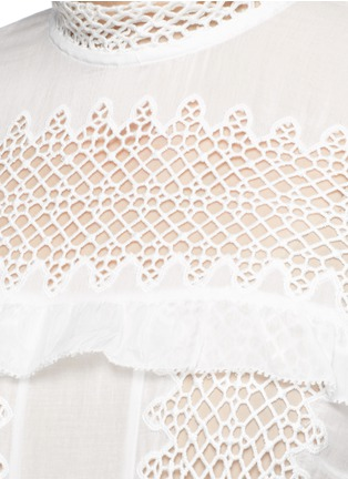 Detail View - Click To Enlarge - SELF-PORTRAIT - Balloon sleeve guipure lace panel blouse