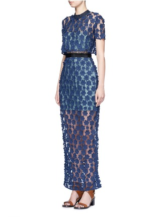 Front View - Click To Enlarge - self-portrait - '60's Overlay' floral lace maxi dress