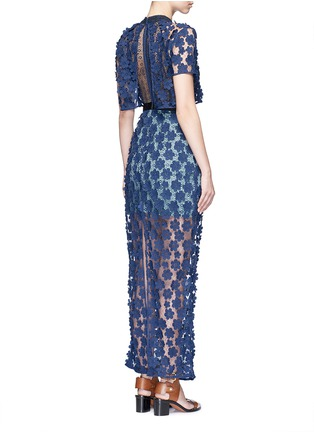 Figure View - Click To Enlarge - self-portrait - '60's Overlay' floral lace maxi dress