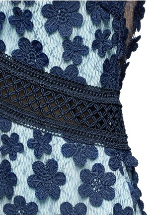 Detail View - Click To Enlarge - self-portrait - '60's Overlay' floral lace tiered dress