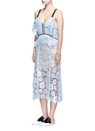 Figure View - Click To Enlarge - SELF-PORTRAIT - 'Anemone' floral guipure lace dress