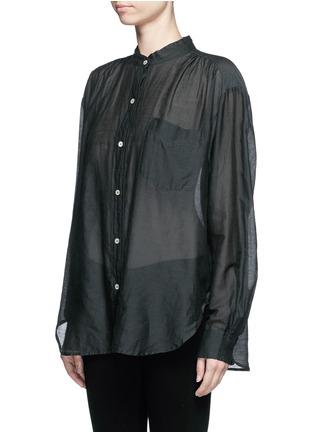 Front View - Click To Enlarge - Isabel Marant Étoile - 'Lixy' cotton-silk shirt