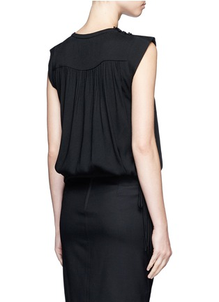 Back View - Click To Enlarge - Isabel Marant Étoile - 'Neo' rouleau loop button shoulder top
