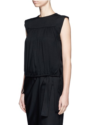 Front View - Click To Enlarge - Isabel Marant Étoile - 'Neo' rouleau loop button shoulder top
