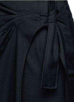 Detail View - Click To Enlarge - Isabel Marant Étoile - 'Natacha' tie side virgin wool wrap skirt