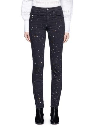 Detail View - Click To Enlarge - ISABEL MARANT ÉTOILE - 'Ennett' splatter paint print skinny jeans