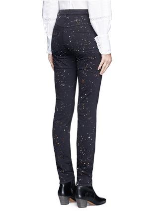 Back View - Click To Enlarge - Isabel Marant Étoile - 'Ennett' splatter paint print skinny jeans
