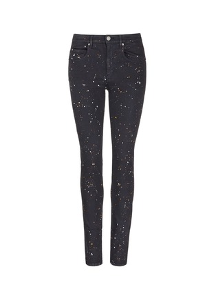 Main View - Click To Enlarge - Isabel Marant Étoile - 'Ennett' splatter paint print skinny jeans