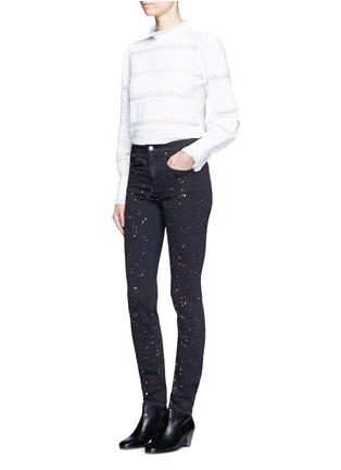 Figure View - Click To Enlarge - Isabel Marant Étoile - 'Ennett' splatter paint print skinny jeans