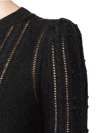 Detail View - Click To Enlarge - Isabel Marant Étoile - 'Kalyn' cotton-wool cable knit sweater