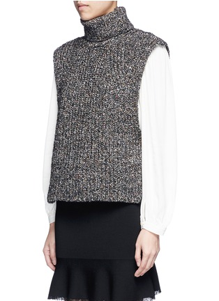 Front View - Click To Enlarge - Isabel Marant Étoile - 'Haway' turtleneck chunky knit vest