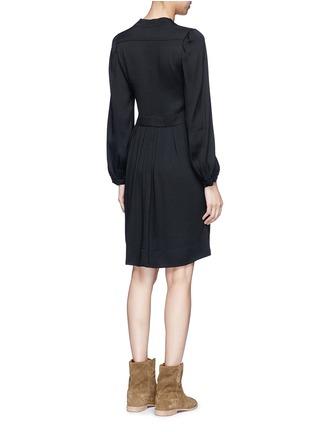 Back View - Click To Enlarge - Isabel Marant Étoile - 'Neil' rouleau loop V-neck dress