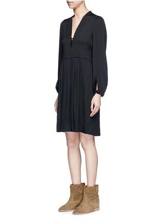 Front View - Click To Enlarge - Isabel Marant Étoile - 'Neil' rouleau loop V-neck dress