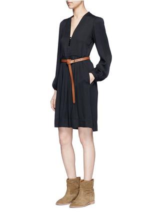 Figure View - Click To Enlarge - Isabel Marant Étoile - 'Neil' rouleau loop V-neck dress