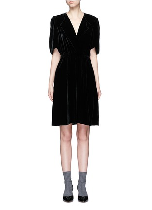 Main View - Click To Enlarge - Isabel Marant Étoile - 'Lynna' surplice neckline velvet dress
