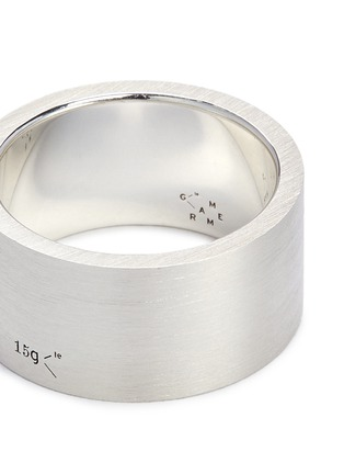 Detail View - Click To Enlarge - Le Gramme - 'Le 15 Grammes' brushed sterling silver ring