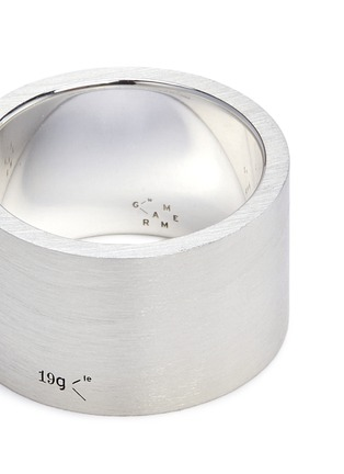 Detail View - Click To Enlarge - Le Gramme - 'Le 19 Grammes' brushed sterling silver ring