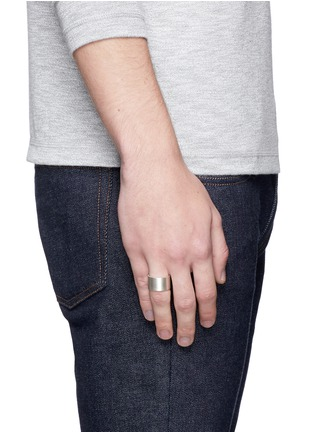 Figure View - Click To Enlarge - Le Gramme - 'Le 19 Grammes' brushed sterling silver ring
