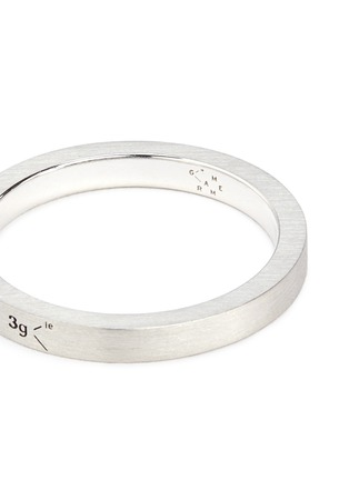 Detail View - Click To Enlarge - Le Gramme - 'Le 3 Grammes' brushed sterling silver ring