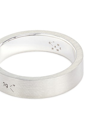 Detail View - Click To Enlarge - Le Gramme - 'Le 7 Grammes' brushed sterling silver ring