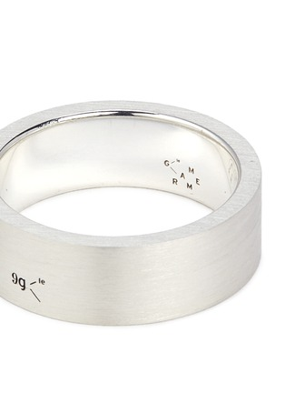 Detail View - Click To Enlarge - LE GRAMME - 'Le 9 Grammes' brushed sterling silver ring