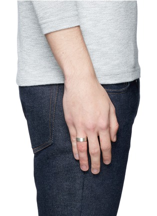 Figure View - Click To Enlarge - Le Gramme - 'Le 9 Grammes' brushed sterling silver ring