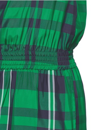 Detail View - Click To Enlarge - Stella McCartney - 'Aurore' gingham check boat neck rompers