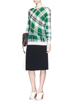 Figure View - Click To Enlarge - Stella McCartney - Solid check cotton knit sweater