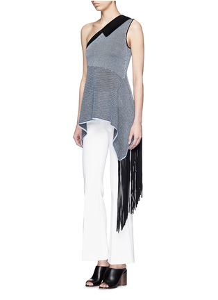 Figure View - Click To Enlarge - STELLA MCCARTNEY - One-shoulder knit fringe top