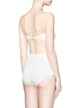 Back View - Click To Enlarge - Marysia - 'Antibes' scalloped bow bandeau top