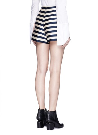 Back View - Click To Enlarge - Moncler - Duchesse satin Bermuda shorts