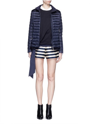 Figure View - Click To Enlarge - Moncler - Duchesse satin Bermuda shorts