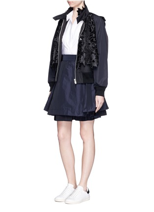 Figure View - Click To Enlarge - Moncler - 'Gonna' double layer skirt