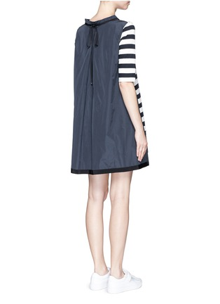 Back View - Click To Enlarge - Moncler - Stripe jersey front dress