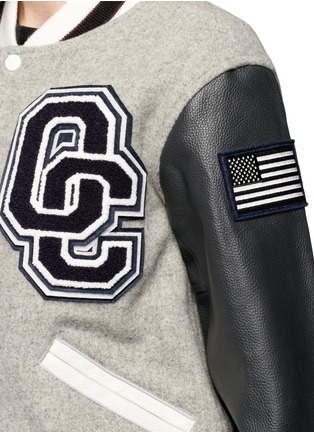 Detail View - Click To Enlarge - OPENING CEREMONY - OC' leather sleeve classic varsity jacket