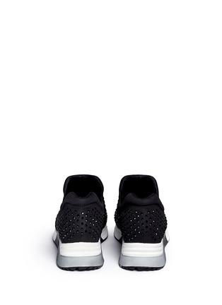 Back View - Click To Enlarge - Ash - 'Lunare' crystal embellished neoprene sneakers