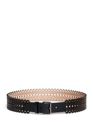 Main View - Click To Enlarge - Alaïa - Vienne' lasercut mini leather belt