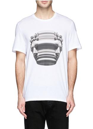 Main View - Click To Enlarge - Neil Barrett - Stretch sculpture print T-shirt