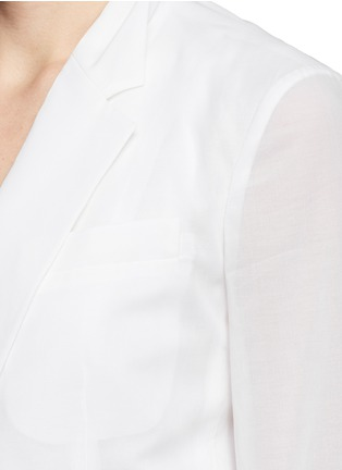 Detail View - Click To Enlarge - Theory - 'Grinson' notched lapel voile blazer