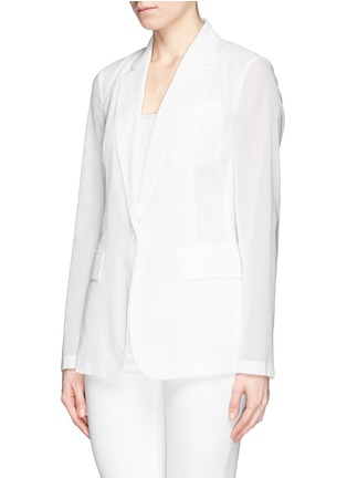 Front View - Click To Enlarge - Theory - 'Grinson' notched lapel voile blazer
