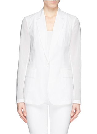 Main View - Click To Enlarge - Theory - 'Grinson' notched lapel voile blazer