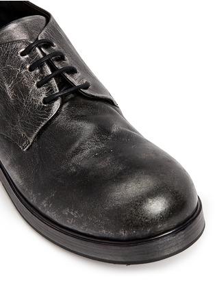 Detail View - Click To Enlarge - Marsèll - 'Zucca Zeppa' metallic leather Derbies