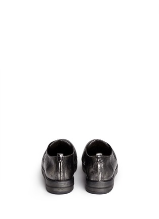 Back View - Click To Enlarge - Marsèll - 'Zucca Zeppa' metallic leather Derbies