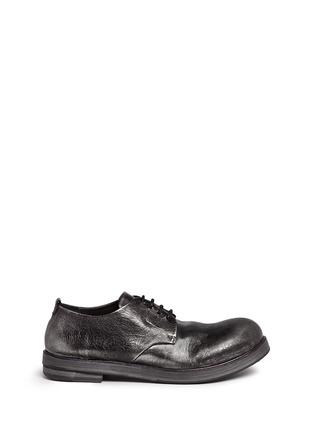 Main View - Click To Enlarge - Marsèll - 'Zucca Zeppa' metallic leather Derbies