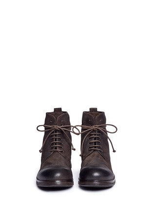 Front View - Click To Enlarge - Marsèll - 'Zuccapro' nubuck leather combat boots