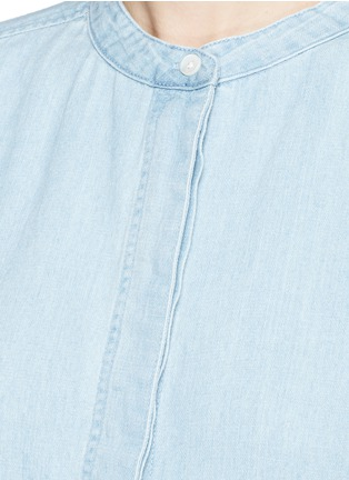 Detail View - Click To Enlarge - Closed - Cotton-linen denim tunic