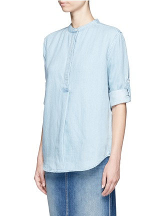 Front View - Click To Enlarge - Closed - Cotton-linen denim tunic