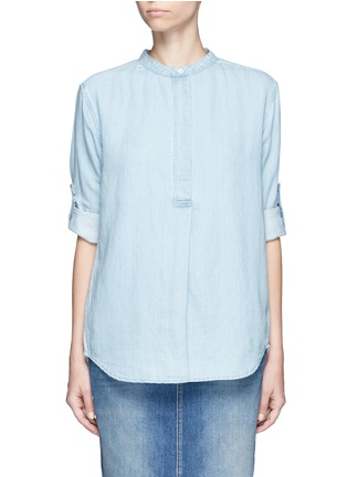 Main View - Click To Enlarge - Closed - Cotton-linen denim tunic